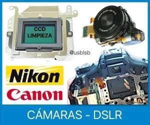 reparar camaras digitales dslr canon nikon canarias
